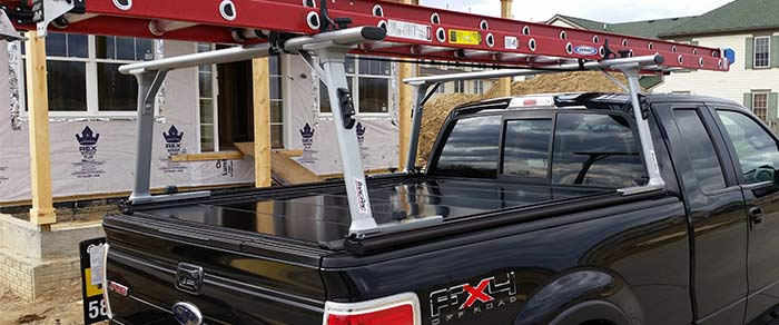 Peragon Tonneau Cover with TracRac Ladder Rack